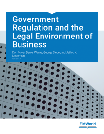 Logo for Government Regulation and the Legal Environment of Business