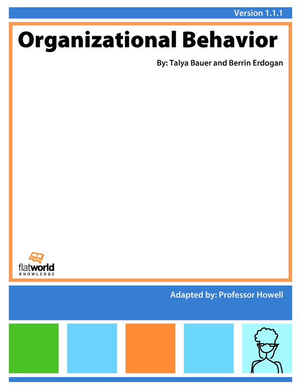 introductory to organisational behaviour principles Organizational behavior or organisational behaviour is the study of human was an organization that rested on rational-legal principles and maximized.