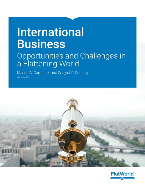 Cover of International Business: Opportunities and Challenges in a Flattening World v3.0