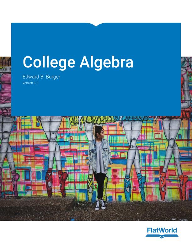 Cover of College Algebra v3.1