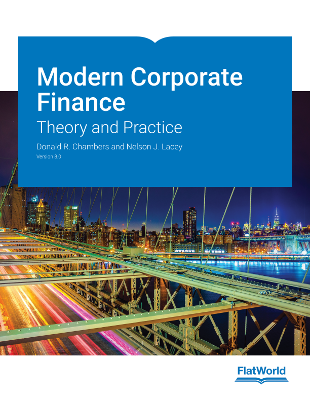 Cover of Modern Corporate Finance: Theory and Practice v8.0