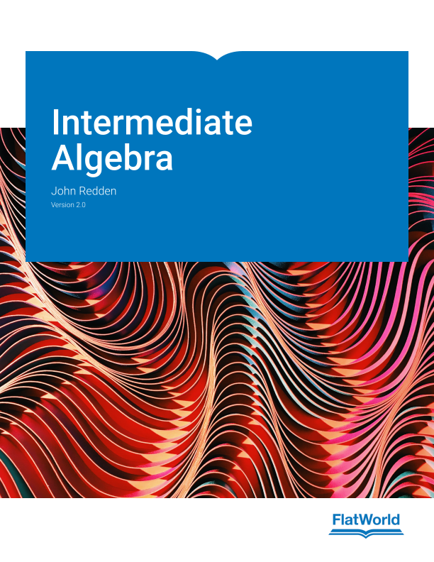 Cover of Intermediate Algebra v2.0
