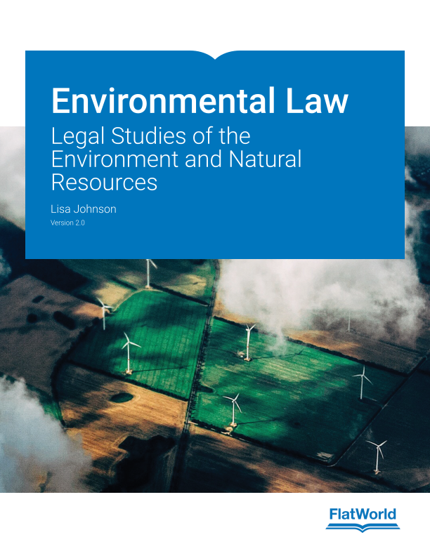 Cover of Environmental Law: Legal Studies of the Environment and Natural Resources v2.0