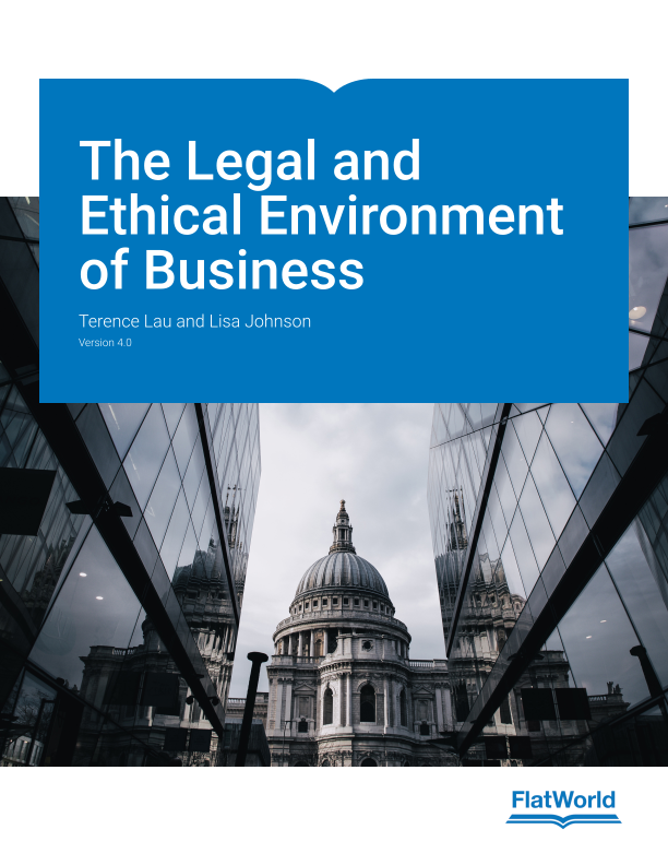 Cover of The Legal and Ethical Environment of Business v4.0