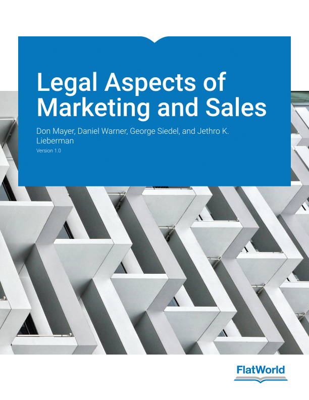 Cover of Legal Aspects of Marketing and Sales v1.0