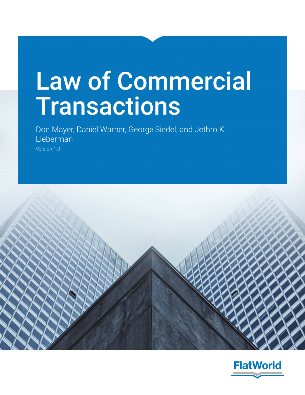 Cover of Law of Commercial Transactions v1.0