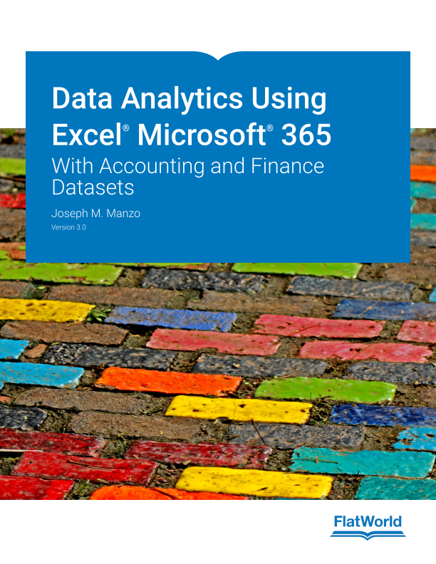Cover of Data Analytics Using Excel Microsoft 365: With Accounting and Finance Datasets  v3.0