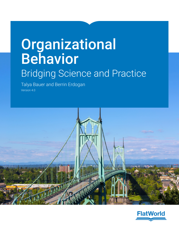 Cover of Organizational Behavior: Bridging Science and Practice v4.0