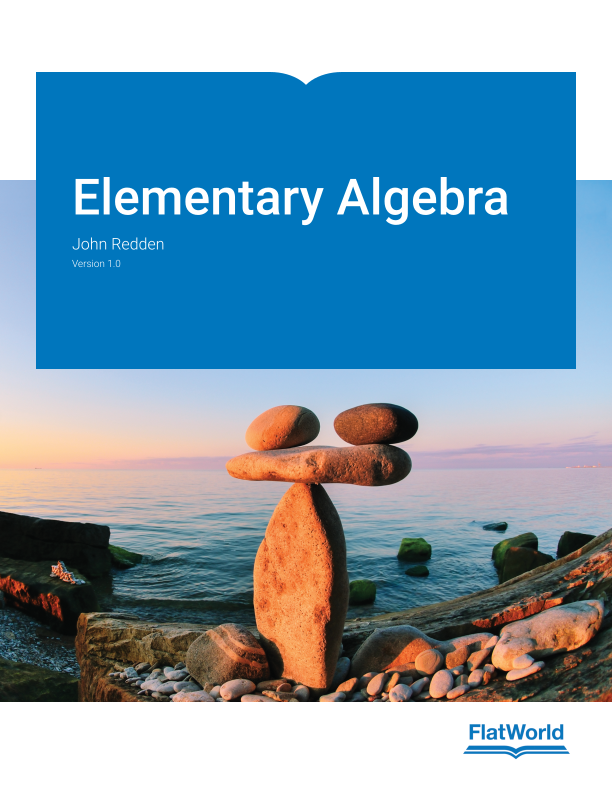 Cover of Elementary Algebra v1.0