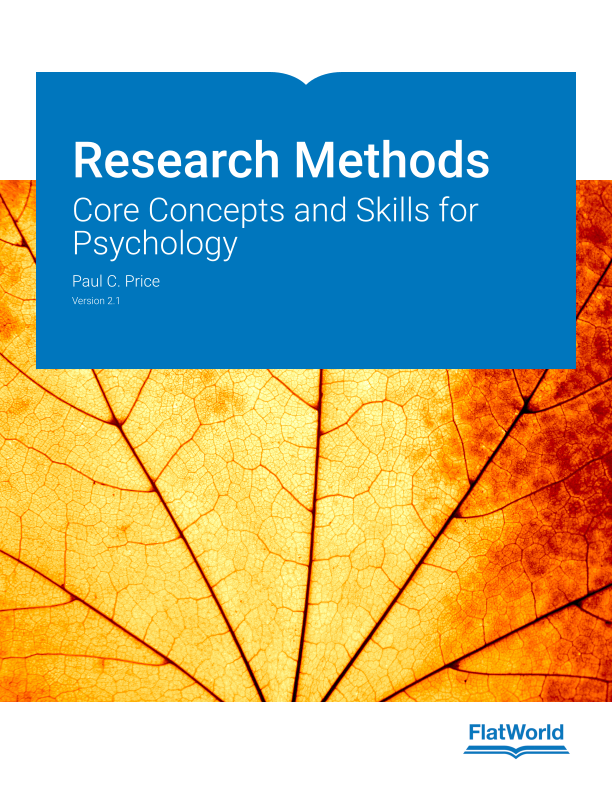 Cover of Research Methods: Core Concepts and Skills for Psychology  v2.1