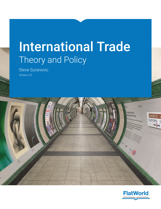 Cover of International Trade: Theory and Policy v2.0