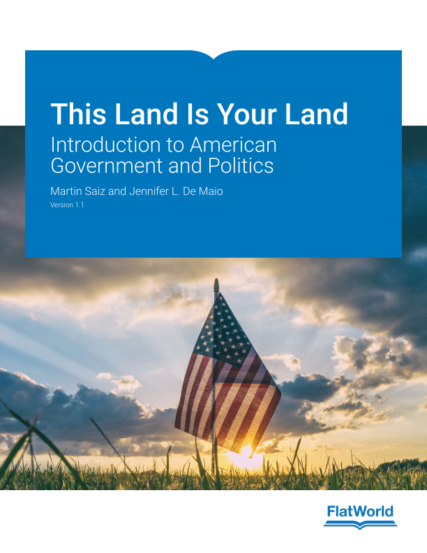 Cover of This Land Is Your Land: Introduction to American Government and Politics v1.1