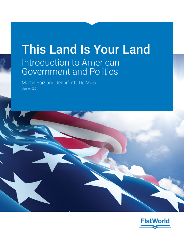 Cover of This Land Is Your Land: Introduction to American Government and Politics v2.0