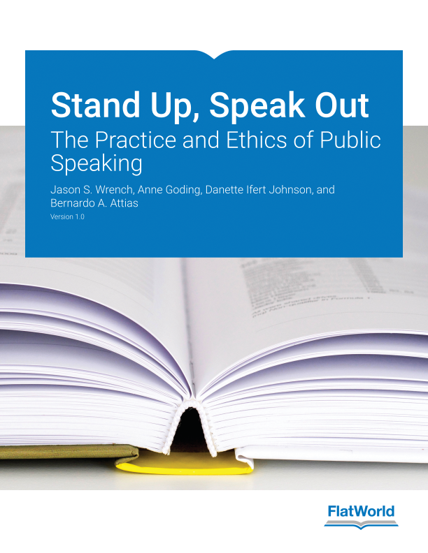 Cover of Stand Up, Speak Out: The Practice and Ethics of Public Speaking v1.0